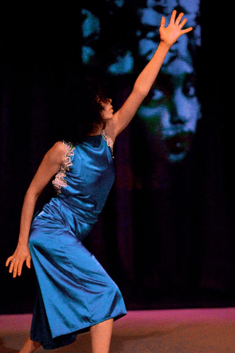 Adesola Akinleye in performance